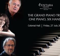 """THE GRAND PIANO TRIO"": ONE PIANO, SIX HANDS AT CENTARA GRAND BEACH RESORT & VILLAS HUA HIN"