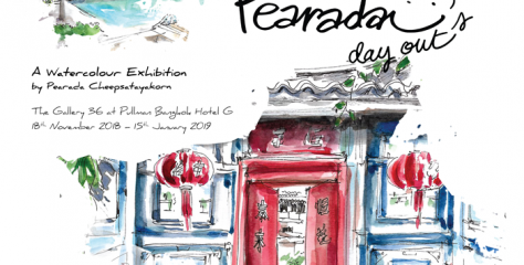 Pearada Day Out A Watercolour Exhibition by Pearada Cheepsatayakorn at The Gallery36