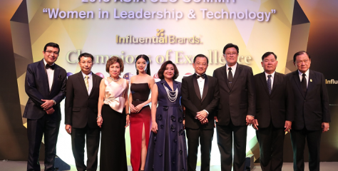 NINE THAI COMPANIES RECOGNISED AS OUTSTANDING BRANDS WINNERS AT THE INFLUENTIAL BRANDS(R) 2018 CEO ASIA SUMMIT IN SINGAPORE
